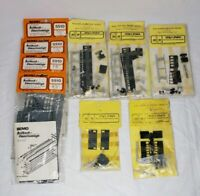Assorted HO Narrow Gauge Rolling Stock Train Parts Lot of 9 Packages