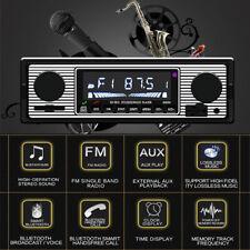 Car Stereo Radio Bluetooth In-dash Head  Player FM/MP3/AUX & Remote+ microphone