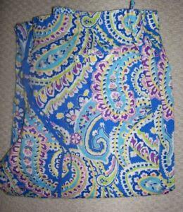 VERA BRADLEY Capri Blue Extra Large Cotton Lawn Pajamas PJ Pants NWT XL  EX LG