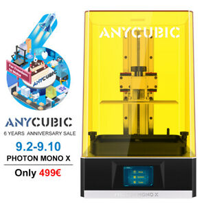 ANYCUBIC LCD Resin Photon Mono X Stampante 3D Grande 192*120*245mm Stampa veloce