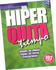 SOPAS DE LETRAS Y OTROS JUEGOS HIPER QUITA TIEMPO 121, 192 PÁGINAS EN ESPAÑOL