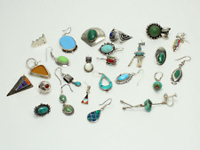 Lot of Single Sterling Silver Southwestern Style Earrings - Great for Crafts