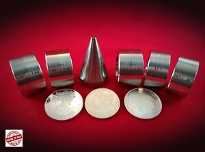 17 deg. Folding / Reduction Dies set of 5 and Folding cone, Coin Ring Tools