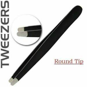 Round Tip Facial Hair Plucker Stainless Steel Eyebrow Tweezer