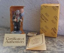 Vintage Flambro Emmett Kelly Jr. Miniature Clown Figurine Balloons For Sale Nib