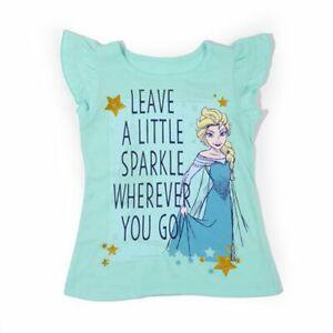 Girls Size 5 Disney Elsa Blue Sparkle Wherever Tee Shirt 190716723758