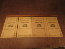 Antique 1860's Bank book and Commisioners set of ledgers RARE UNUSED 4 total