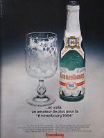 PUBLICITÉ 1967 BIÈRE KRONENBOURG 1664 DEPUIS 300 ANS - ADVERTISING