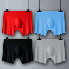 Men/'s Ice Silk Underpants Boxer Briefs Bulge Pouch Breathable Mesh Shorts L-4XL