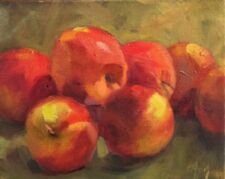 Apples original oil painting by Margaret Aycock Oklahoma impressionism artist