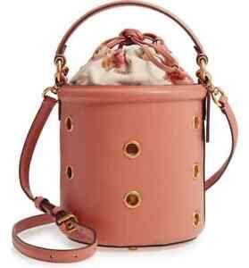 COACH Grommets Drawstring Leather Bucket Bag Crossbody ~NWT~ 69654