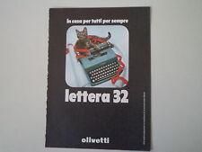 advertising Pubblicità 1968 OLIVETTI LETTERA 32