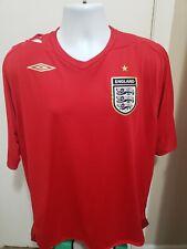 Official Umbro England Soccer Football Jersey Shirt Xxl Red
