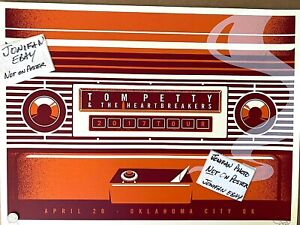 TOM PETTY Oklahoma City OK 2017 SCREEN PRINT AP POSTER SIGNED S/N #/35 Ships2Day