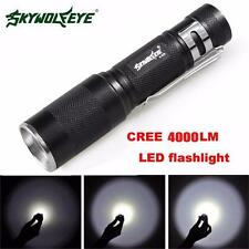4000LM Zoomable CREE XM-L Q5 LED Flashlight 3 Mode Torch Super Bright Light NEW