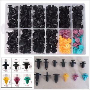 300 Pcs Mixed Plastic Car Door Bumper Fastener Retainer Clip Assortment + Box