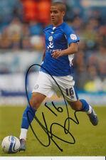 Leicester City mano firmado Kyle Naughton 6X4 Foto 1.