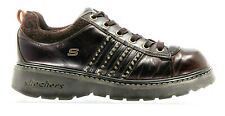 Skechers Womens Wedge Brown Size 9 Leather Fashion Sneaker with Studs 45952
