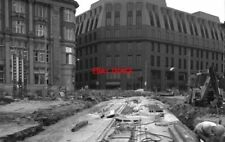 PHOTO  1990 METROLINK CONSTRUCTION LAYING DRAINAGE PIPES OUTSIDE MANCHESTER VICT