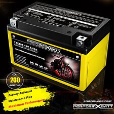 12V 8.6Ah AGM Battery YTZ10S Honda Cruiser VT400 VT600 Shadow NT650V Deauville