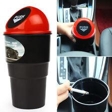 1pc Car Auto Mini Trash Rubbish Bin Can Garbage Dust Case Storage Holder BLK/Red