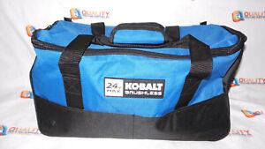 New Kobalt 24V Max Brushless Contractors Tool Storage Bag Blue 18x10x8