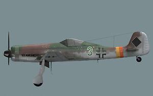 1/10 Echelle Focke Wulfe TA-152 Plans, Gabarit Et Instructions 56ws