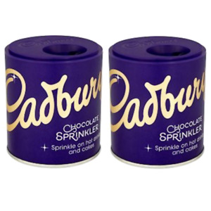 2 Cadbury Sprinkler Sprinkle On Top Of Coffee, Cappuccino Hot Chocolate & Cakes