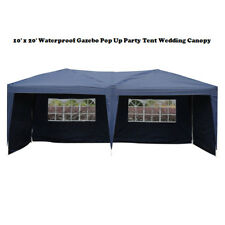 10'X 20' Easy POP-UP Blue Party Tent Folding Gazebo Beach Canopy Garden Awning