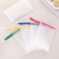 5× Soap Foaming Net Saver Bag Suds Bubbles Maker Skin Care Bath Easy Bubble Mesh