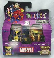 NEW 2015 Marvel ✧ WOLVERINE v SABRETOOTH ✧ Minimates 2-Pack Series 1 MIB RARE FS