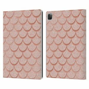 HEAD CASE DESIGNS MERMAID SCALES LEATHER BOOK CASE & WALLPAPER FOR APPLE iPAD