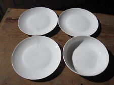 Tabletops Unlimited Studio tu Prelude White 3 Salad Plates and 1 Soup Bowl