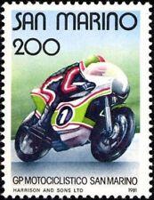 SAN MARINO - 1981 - Grand Prix Motorcycle race -- MNH Stamp -- Scott #1006