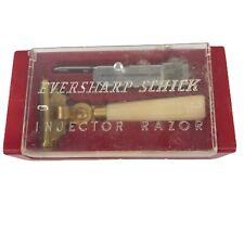 Vintage Eversharp Schick Injector Gold Tone Celluloid Razor With Original Case