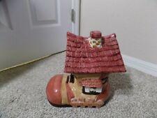 Vintage Large Ceramic Shoe House Cookie Jar, Bico China