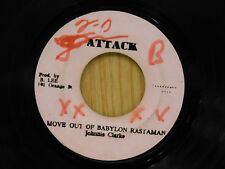 Jonnie Clarke 45 Move Out Of babylon Rastaman / Moving Version - Attack G reggae