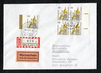 Bund MeF (5) 1535 Einschreiben Rückschein Eigenhändig Viererblock portogerecht