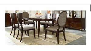 Thomasville Spellbound Sable Walnut Oval Dining Table And Six Chair Set...