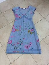 White Stuff blue floral summer linen dress, size 8.