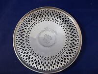 C 1913 Gorham Hallmarked Sterling Silver Pedestal Bon Bon Pierced Candy Dish