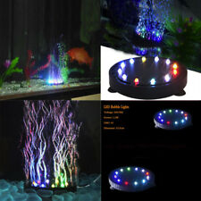 12 LED Submersible Bubble Light Air Stone for Aquarium Fish Tank Pump Curtain UK