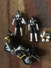 LOT 2 Vintage Black Power Rangers & Thunder Bike Dino Bundai Motorcycle Hasbro