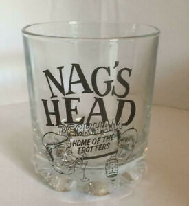 NAGS HEAD Only Fools FRUIT JUICE/WHISKY GLASS whiskey, and Horses