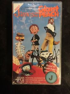 JAMES AND THE GIANT PEACH VHS (EX-RENTAL) EXCELLENT CONDITION RARE WALT DISNEY