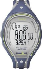 "Timex T5K592, ""Ironman Triathlon"" Tapscreen Blue Resin Watch, Alarm,Chronograph"