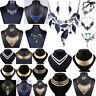 Fashion Women Crystal Pendant Jewelry Chain Bib Chunky Statement Choker Necklace