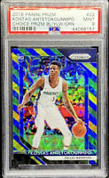Kostas Antetokounmpo 2018-19 Prizm Choice Blue Yellow Green RC #22 Rookie PSA 9