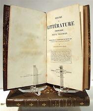 VILLEMAIN : Tableau de la littérature au Moyen-Âge... - 1864 2 volumes reliés