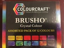 BRUSHO BY COLOURCRAFT BRU85000  BRUSHO CRYSTAL COLOR SET 12 COLOR
